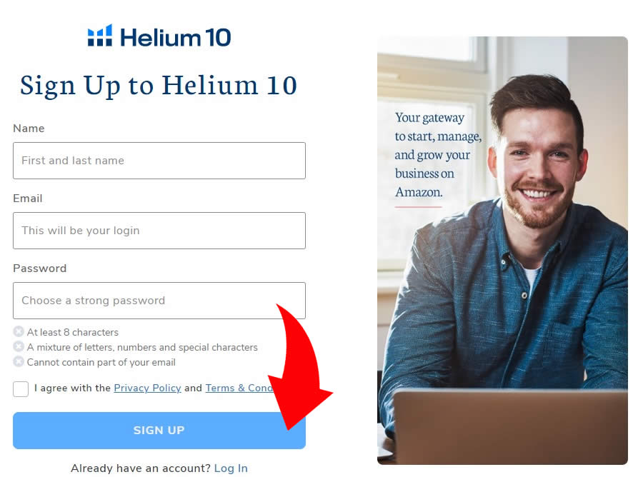 helium 10 signup